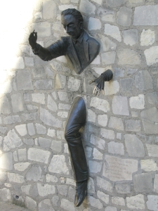 Paris Statue inspired by Le Passe-Muraille