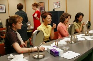 Lipstick Testing in Mad Men