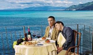 Steve Coogan and RobBrydon inCamogli, Italy